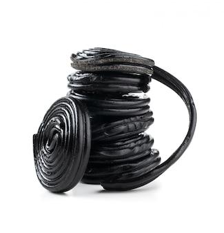 Pilha de bobinas de alcaçuz
