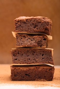Pilha de brownies