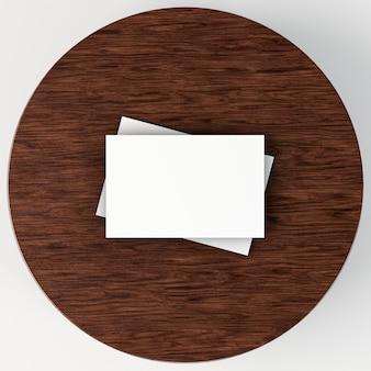 Pilha de cartões de visita em branco para papelaria corporativa