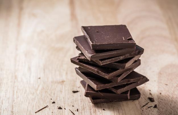 Pilha de chocolate