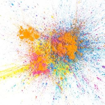 Pilha de cores secas brilhantes coloridas