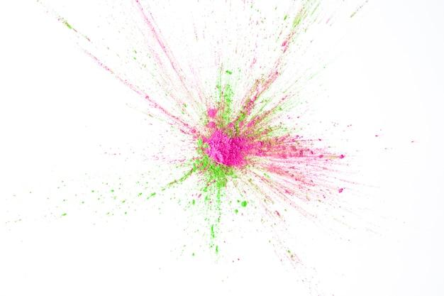 Pilha de cores secas verdes e violetas