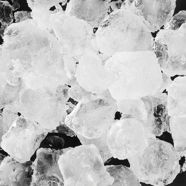 Pilha de cubos de gelo