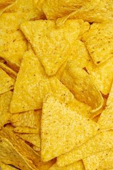 Pilha de deliciosos nachos