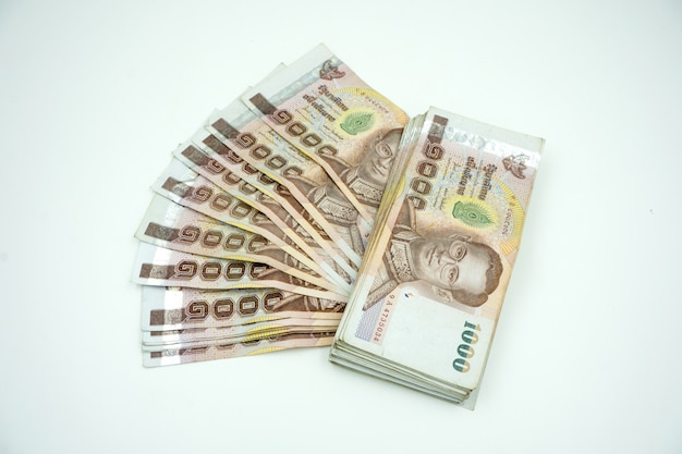 Pilha de dinheiro tailandês