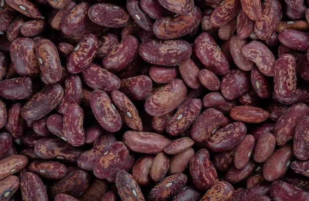 Pilha de feijão vermelho