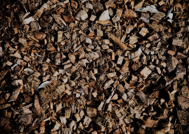 Pilha de fibra de casca de coco spathe