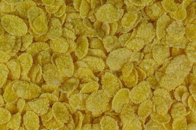 Pilha de flocos de milho fechar fundo