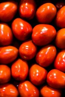 Pilha de frutas vista superior