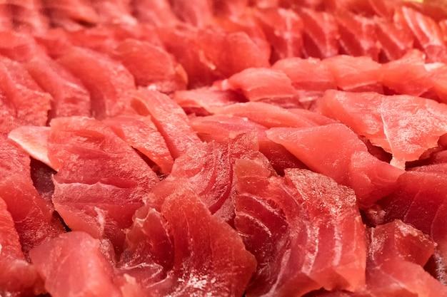 Pilha de fundo de atum fresco