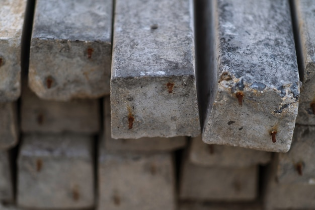 Pilha de fundo pré-fabricado de lajes de concreto armado