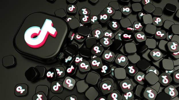 Pilha de ícones do tiktok