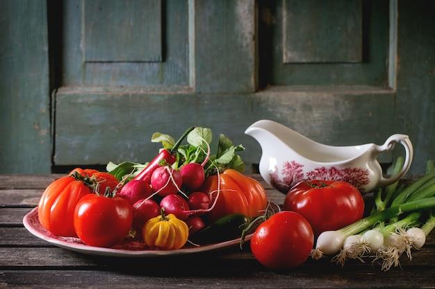 Pilha de legumes