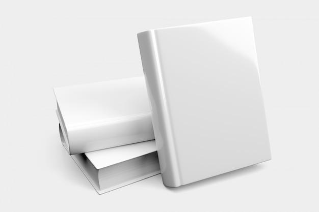 Pilha de livro em branco