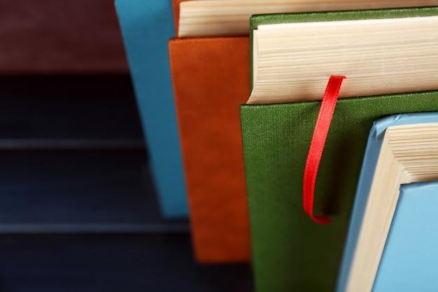 Pilha de livros, close-up