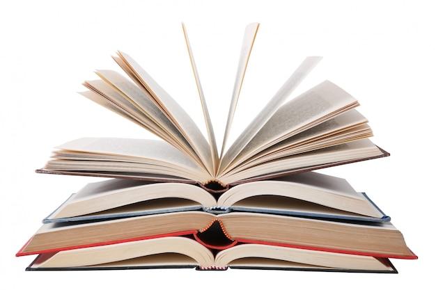 Pilha de livros em branco