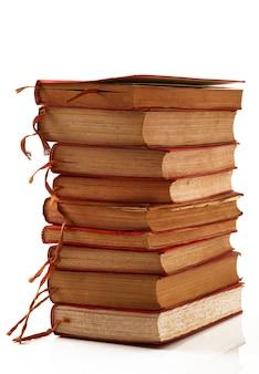 Pilha de livros isolada