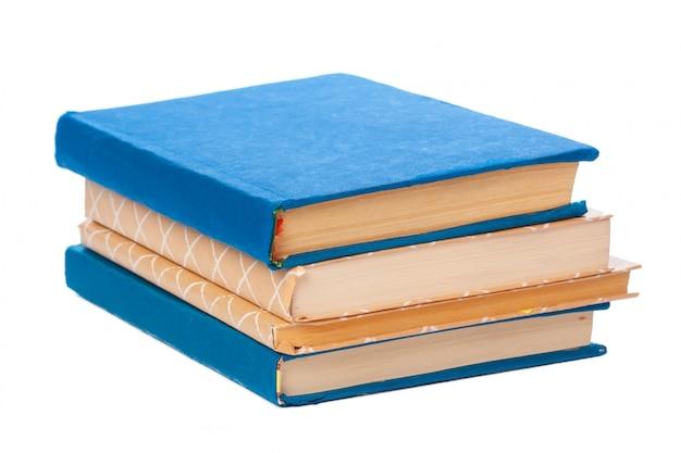 Pilha de livros isolados