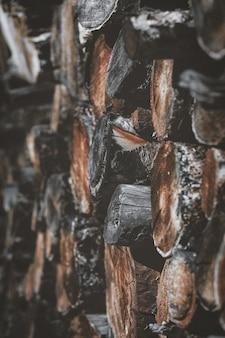 Pilha de madeiras