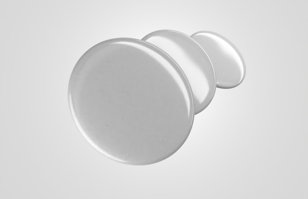 Pilha de movimentos de emblemas 3d em branco
