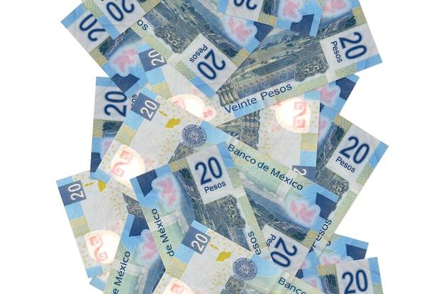 Pilha de notas de pesos mexicanos