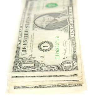 Pilha de notas de um dólar