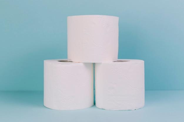 Pilha de papel higiênico