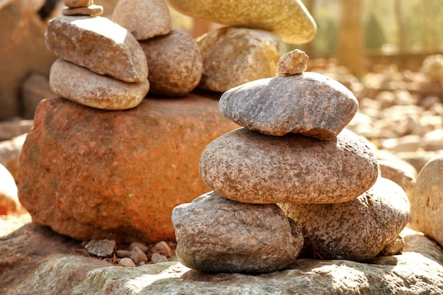 Pilha de pedras de zen