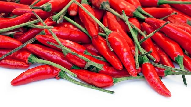 Pilha de pimenta vermelha brasileira