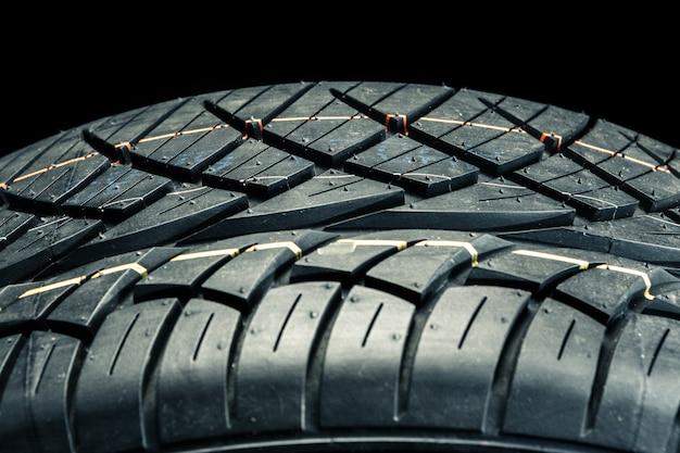Pilha de pneus, close-up