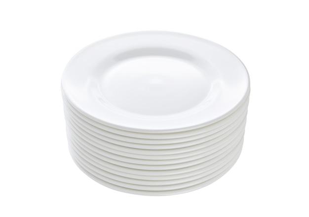 Pilha de pratos isolados