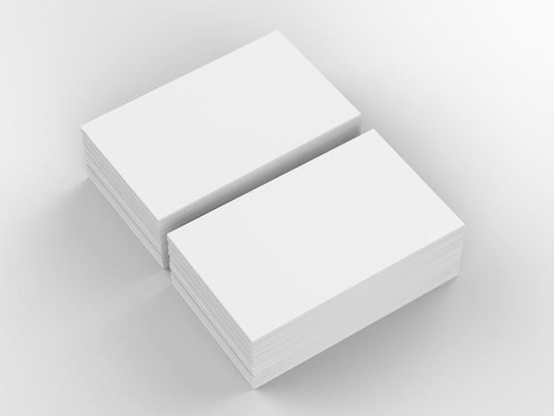 Pilha de renderização 3d de cartões de visita em branco