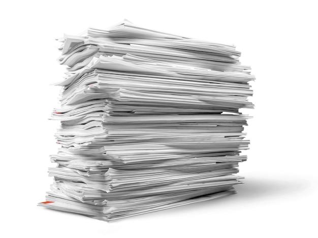 Pilha de revistas, cadernos