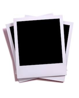 Pilha desajeitada de fotos de estilo polaroid