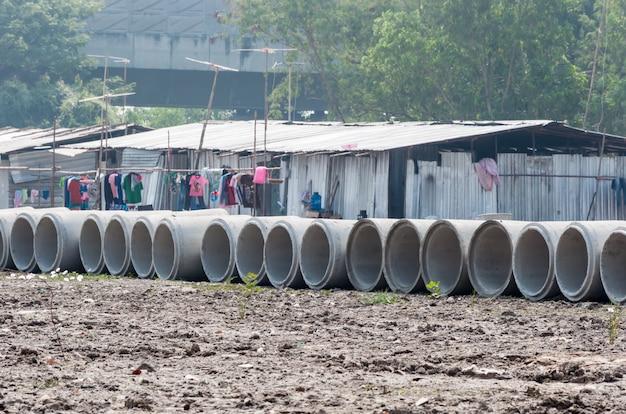 Pilhas de concreto