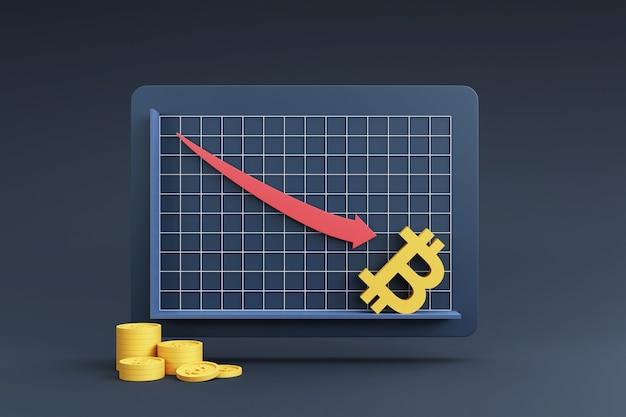 Pilhas de moedas com gráfico de crescimento para o conceito financeiro e de investimento