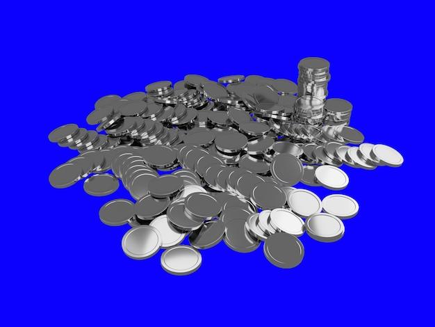 Pilhas de moedas de ouro brilhantes.
