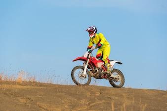 Piloto de motocross incrível