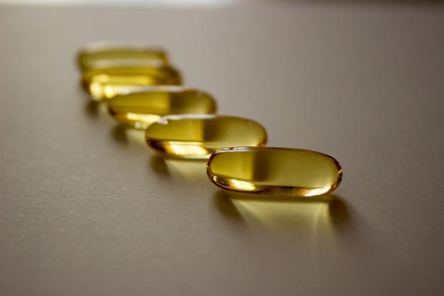 Pílulas fotográficas cápsulas de óleo de peixe, vitaminas ômega, tratamento de vírus covid fármacos