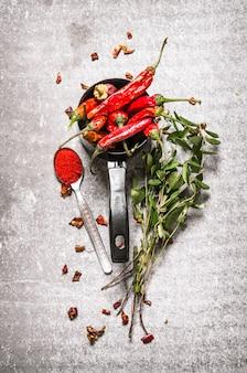 Pimenta com ervas