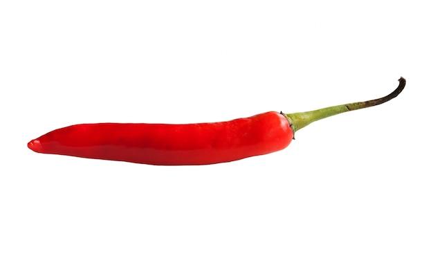 Pimenta de pimentão vermelho isolado em um fundo branco