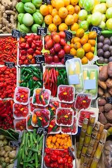 Pimenta e outros vegetais