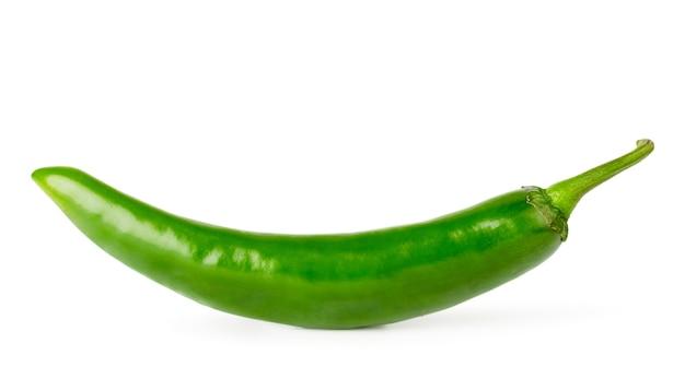 Pimenta verde isolada