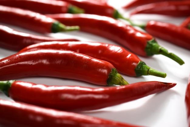 Pimenta vermelha. colheita de pimenta vermelha, closeup