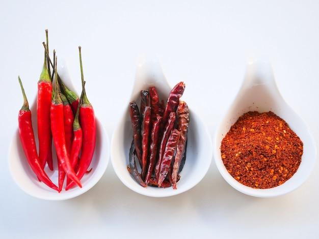 Pimenta vermelha e fria