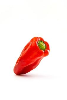 Pimenta vermelha suculenta isolada em um branco