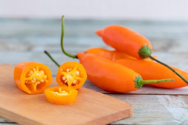 Pimentão amarelo. o principal ingrediente da culinária peruana