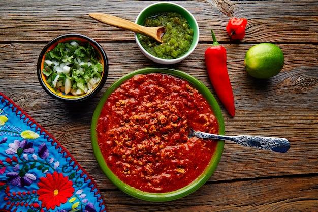 Pimentão com carne platillo comida mexicana