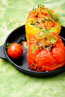 Pimentão recheado com carne