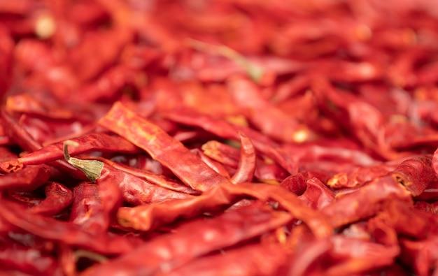 Pimentão vermelho seco, tempero asiático